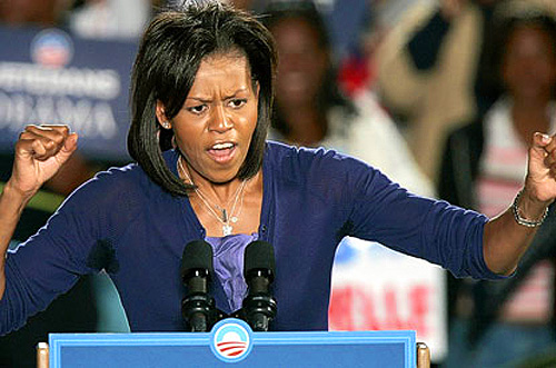 FIRST LADY OUT OF CONTROL: Michelle Confronts Heckler ...